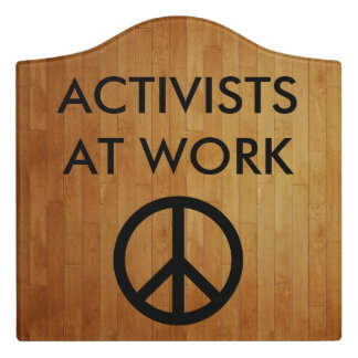 Paxspiration Activists at Work Crest Sign
