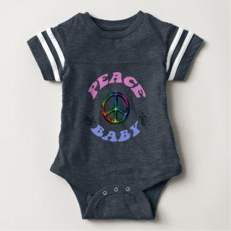 Paxspiration Peace Baby Football Bodysuit