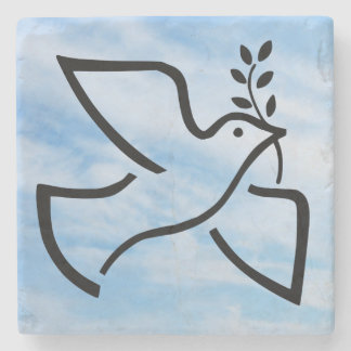 Paxspiration Peace Dove Marble Coaster