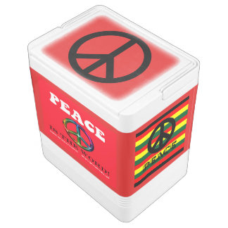 Paxspiration Peace Is the Word Igloo 24-Can Cooler