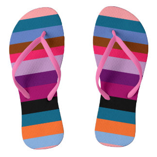 Paxspiration Peace Stripes Flip Flops