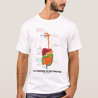 Pay Attention To Gut Intuition (Anatomical Humor) T-Shirt