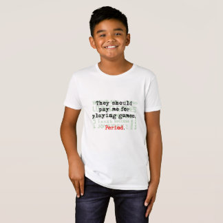 Pay for Gaming, Kids' Organic T-Shirt, Natural T-Shirt