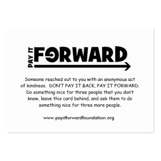Pay It Forward Card 2009 Business Card Templates