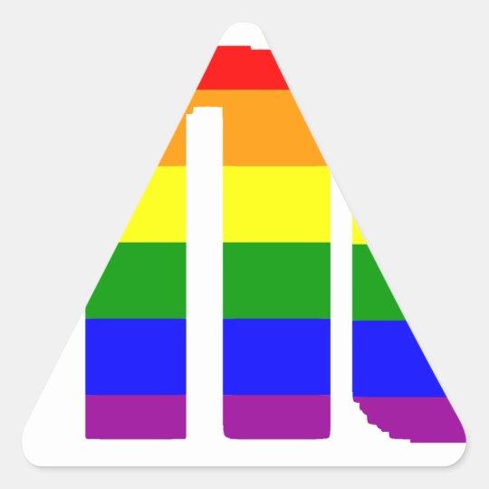 pay it no mind triangle sticker