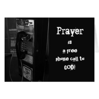 Pay Phone To God Get Well Card