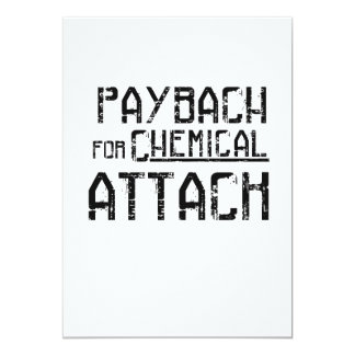 Payback For Chemical Attack Syria Refugee Card