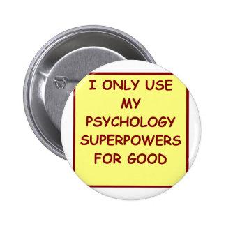 paychology psychologist 6 cm round badge