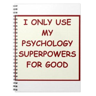 paychology psychologist notebooks