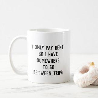 Paying Rent for Trips Mug