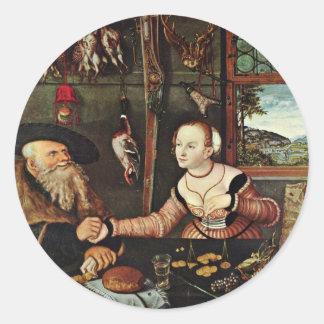 Payment (The In-Laws) By Cranach D. Ä. Lucas (Best Round Sticker