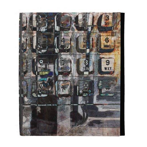 payphone keys urban collage ipad case