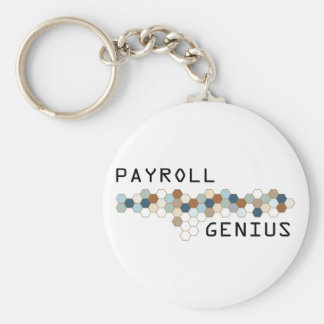 Payroll Genius Basic Round Button Key Ring