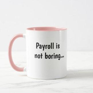Payroll Not Boring Cruel Funny Payroll Quote Gift Mug