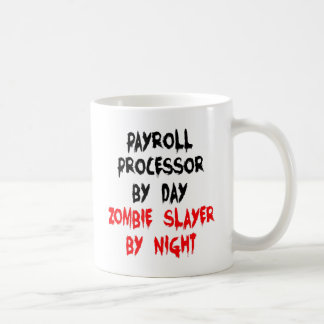 Payroll Processor Zombie Joke Coffee Mug