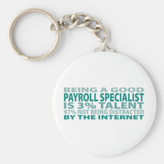Payroll Specialist 3% Talent Basic Round Button Key Ring