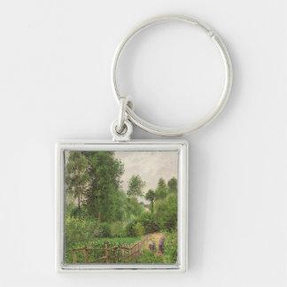 Paysage, temps gris a Eragny Key Ring