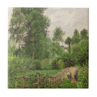 Paysage, temps gris a Eragny Tile