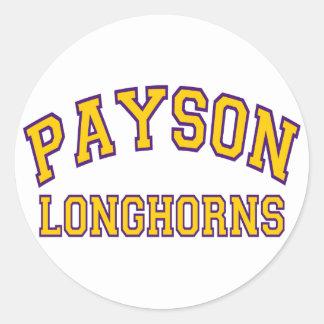 Payson Longhorns Classic Round Sticker