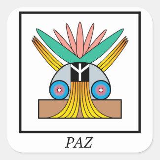 Paz (Peace) Symbol. Plejaren symbol for peace Square Sticker