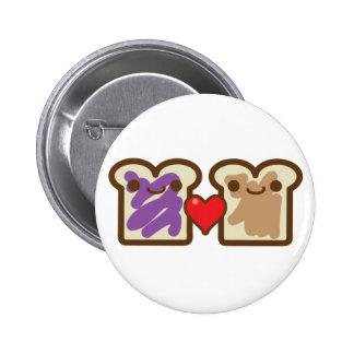 pb and j 6 cm round badge