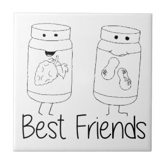 PB and J Best Friends Ceramic Tile