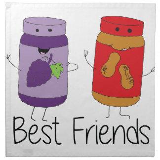 PB and J Best Friends- Color Napkin