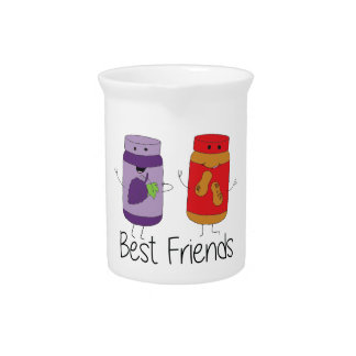 PB and J Best Friends- Color Pitcher