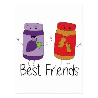 PB and J Best Friends- Color Postcard