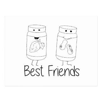 PB and J Best Friends Postcard