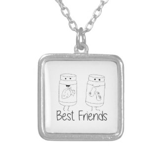 PB and J Best Friends Silver Plated Necklace