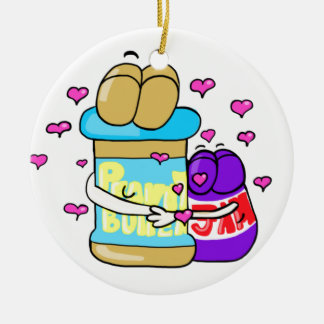 Pb&j Bestfreinds graphic Ceramic Ornament
