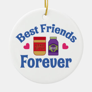 PB&J BFF CERAMIC ORNAMENT