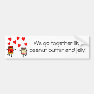 """PB&J Love"" Bumper Sticker"