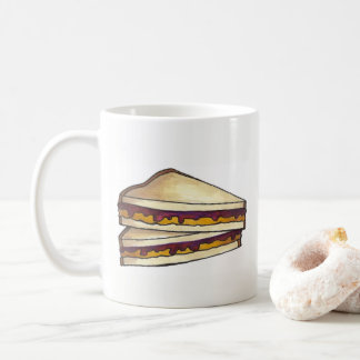 PB&J Peanut Butter and Jelly Sandwich Lunch Food Coffee Mug