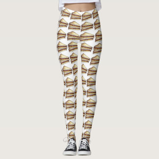 PB&J Peanut Butter Jelly Sandwich Foodie Leggings