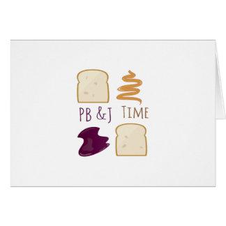 PB &J Time Card
