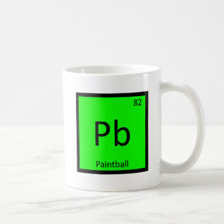 Pb - Paintball Sports Chemistry Periodic Table Basic White Mug
