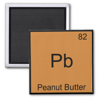 Pb - Peanut Butter Funny Element Chemistry T-Shirt Refrigerator Magnets
