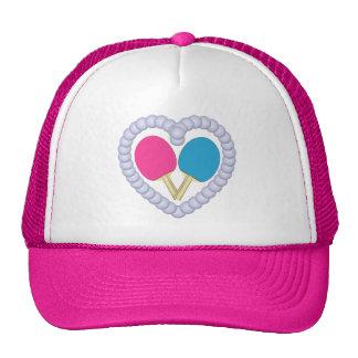 PB Ping Pong Paddle Heart Hats