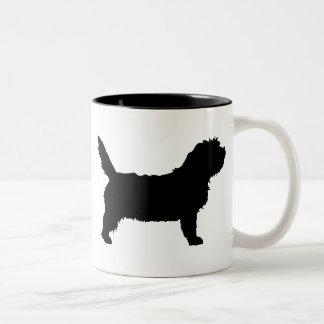 PBGV Dog (black) Mugs