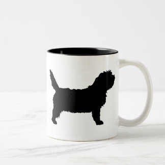 PBGV Dog (black) Two-Tone Coffee Mug