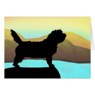 PBGV Dog By The Sea Card
