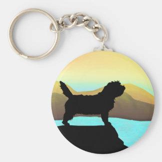 PBGV Dog By The Sea Key Ring