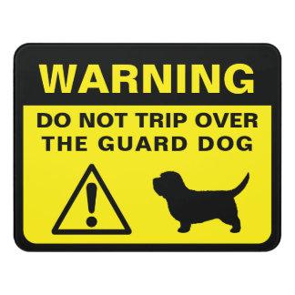 PBGV Silhouette Funny Guard Dog Warning Door Sign
