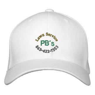 """PB's Lawn Service"" Baseball Hat Embroidered Baseball Caps"