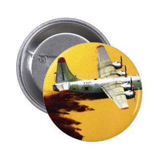 PBY Firefighter Aircraft 6 Cm Round Badge