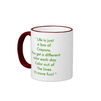 PC010007, Life is justa box ofCrayons.You get a... Ringer Mug