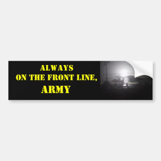 PC010061, Always on the Front Line,, ARMY Bumper Sticker