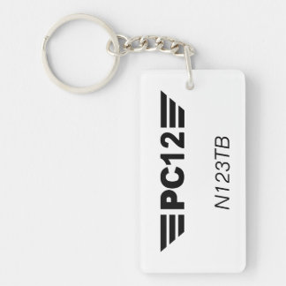 PC12 Keychain - Personal Tail Number